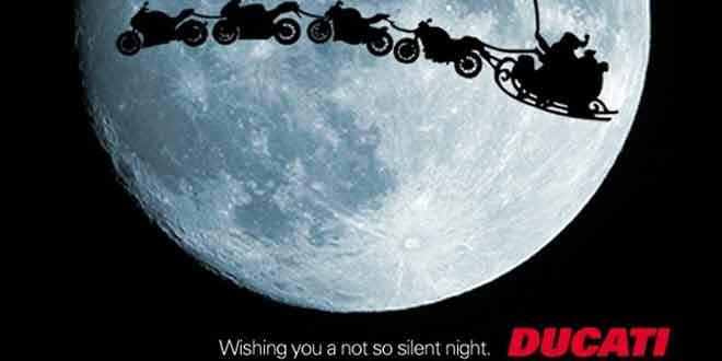 Видео-поздравление с Рождеством от Ducati и Harley-Davidson