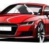 Audi представила первые скетчи нового поколения купе TT
