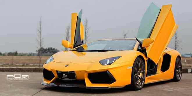 Канадский тюнер SR Auto Group установил обвес PUR Aero на итальянский суперкар Lamborghini Aventador