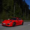 Ярко-красный Porsche 911 Carrera S в легком стайлинге от TechArt