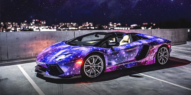 Galaxy-стайлинг для Lamborghini Aventador из Канады