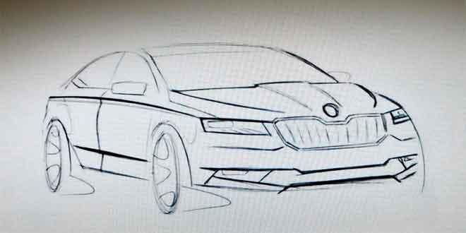Рассекречены первые детали о дизайне нового поколения Skoda Superb