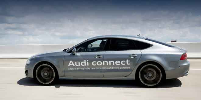 Audi тестирует автопилот на четырехдверном купе A7