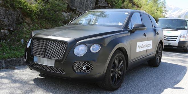 Bentley продолжает тестировать внедорожник