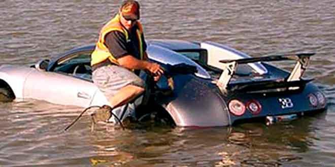 Утопившему свой Veyron техасцу грозит 20 лет тюрьмы