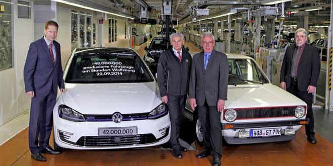 Завод Volkswagen в Вольфсбурге выпустил 42-миллионный автомобиль
