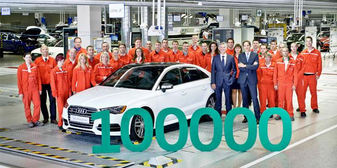 Новый завод Audi в Венгрии выпустил стотысячный автомобиль