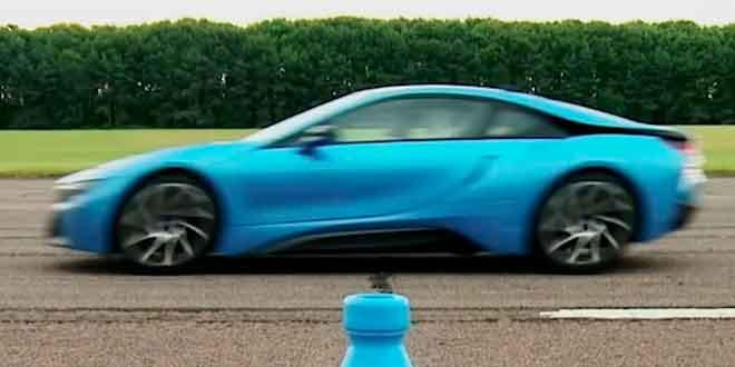 Супергибрид BMW i8 бросил вызов Porsche 911 Carrera S