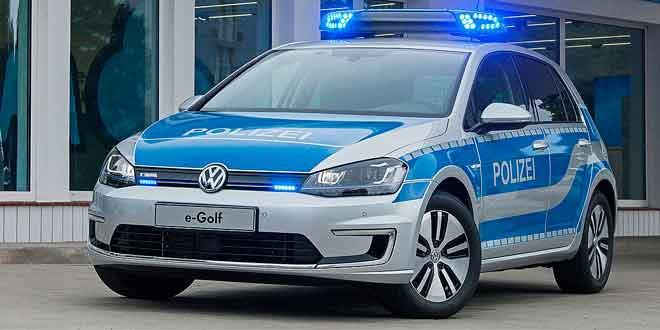 Электрический Volkswagen Golf на страже порядка