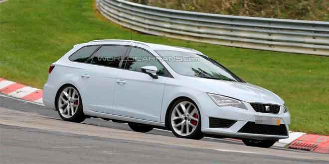 SEAT тестирует «заряженный» универсал Leon ST Cupra