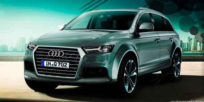 Audi Q7 2016 модельного года покажут в Детройте