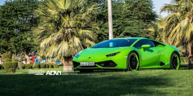 Lamborghini Huracan поставили на диски ADV.1