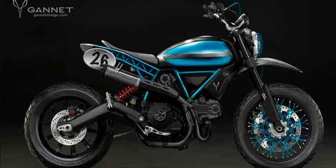 Концепт на базе Ducati Scrambler от Gannet Design