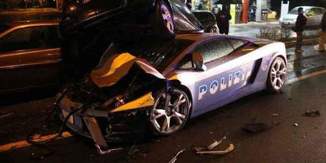 В Италии разбили полицейский Lamborghini Gallardo