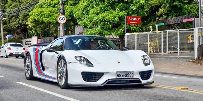 Фото дня: Porsche 918 Spyder в Сан-Паулу