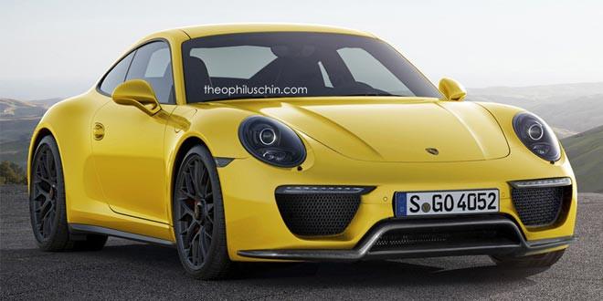 Рендер рестайлингового Porsche 911