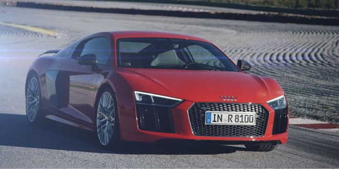 Первое видео Audi R8 V10 Plus