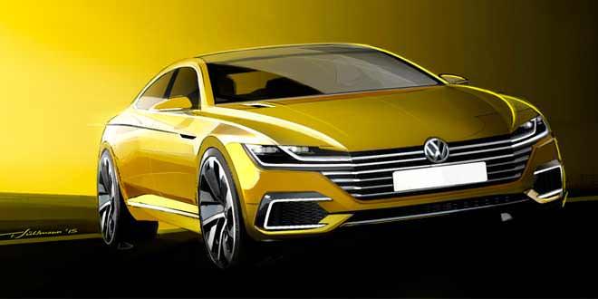 Официальные скетчи предвестника Volkswagen Passat CC