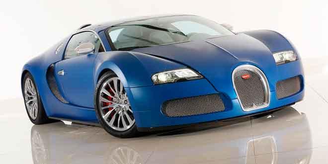 Продается юбилейный Bugatti Veyron Bleu Centenaire