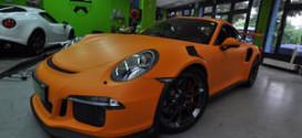 Porsche 991 GT3 RS матового оранжевого оттенка от Print Tech