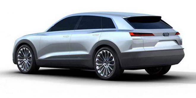Первые изображения конкурента Tesla Model X от Audi