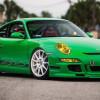 Зеленый Porsche 911 GT3 RS оседлал белые диски HRE