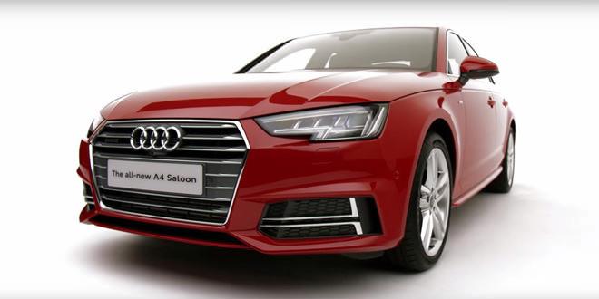 Audi рассказала о новом седане A4 с пакетом S line