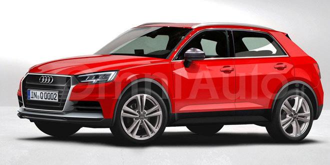 Рендер Audi Q1 на основе последних шпионских снимков