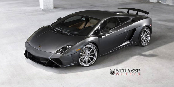 Lamborghini Gallardo цвета металлик на дисках Strasse Wheels