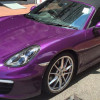 Porsche Boxster пурпурного оттенка от Impressive Wrap