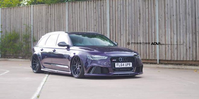 Уникальная Audi RS6 фиолетового цвета на дисках ADV.1 Wheels