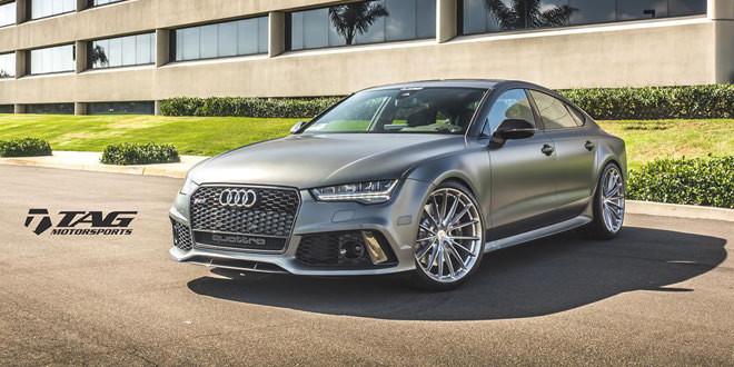 Рестайлинговая Audi RS7 примерила диски HRE Wheels