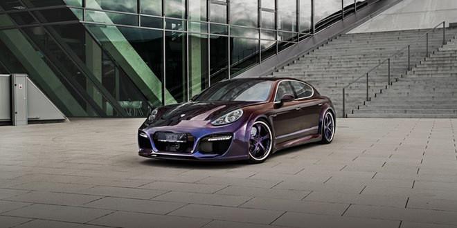Porsche Panamera Grand GT в сумасшедшем хамелеоновом окрасе