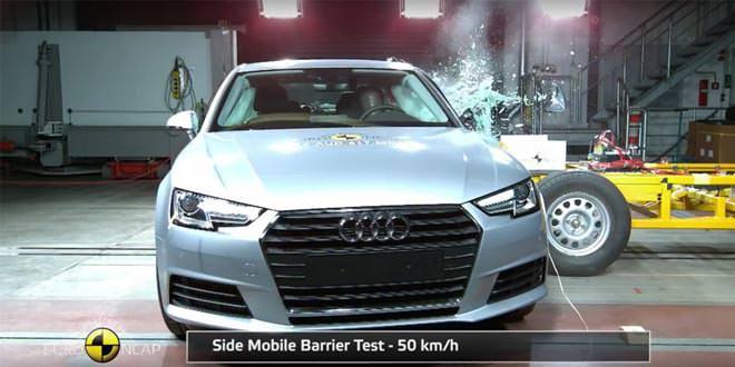 Новая Audi A4 набрала в краш-тестах Euro NCAP 5 баллов