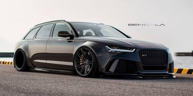 Виртуальный тюнинг: Audi RS6 Avant в широком боди-ките