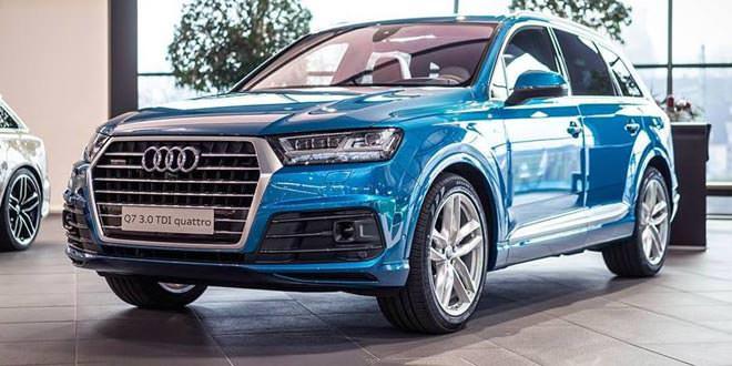 Audi Q7 оттенка Long Beach Blue от Audi Exclusive
