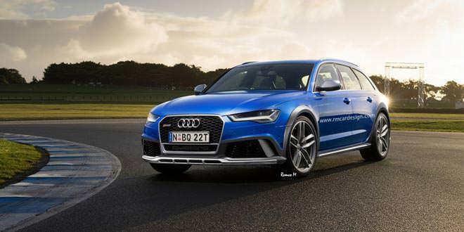 Рендер на тему Audi RS6 allroad