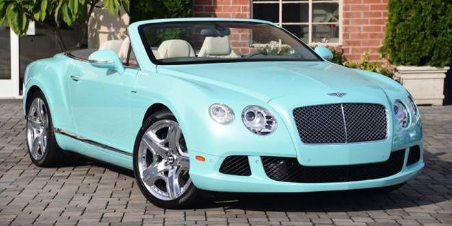 Bentley Continental GTC оттенка Celeste Blue