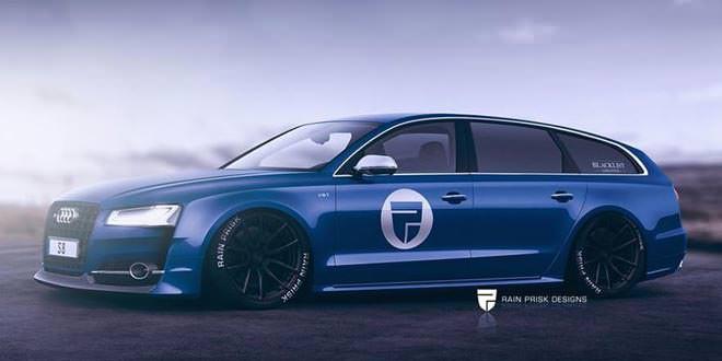 Рендер Audi S8 Wagon