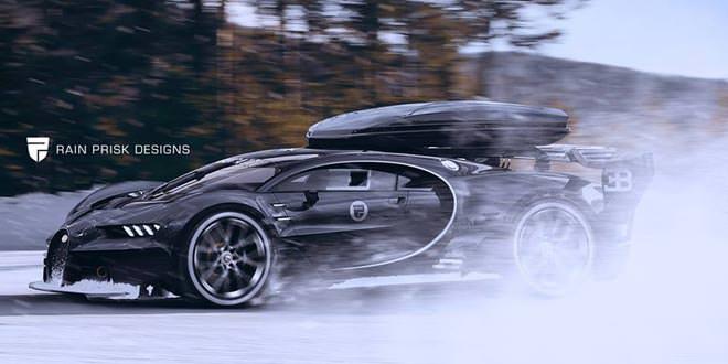 Любительский рендер Bugatti Chiron