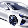 Новая модель Hyundai Loniq засветилась на очередных эскизах