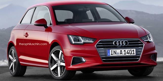 Рендер Audi A1 нового поколения в стиле A4