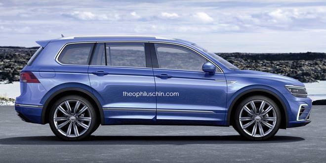 Рендер новых модификаций VW Tiguan