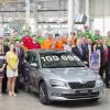 С конвейера сошла 100 000-я Skoda Superb третьего поколения