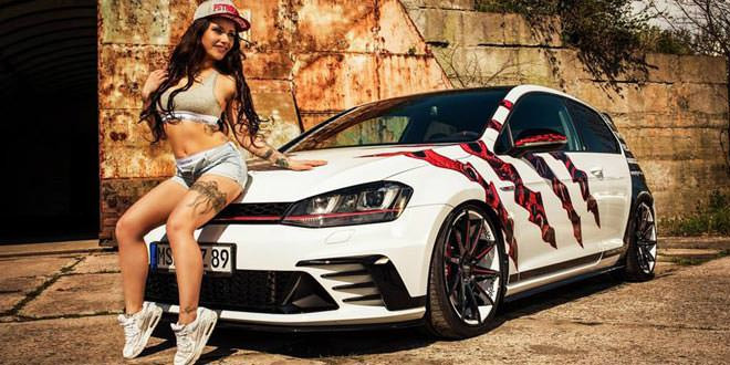 Ателье Oxigin Wheels тюнинговало Volkswagen Golf GTI Clubsport