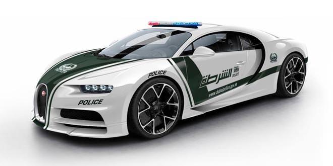Полицейский Bugatti Chiron для правоохранителей Дубая
