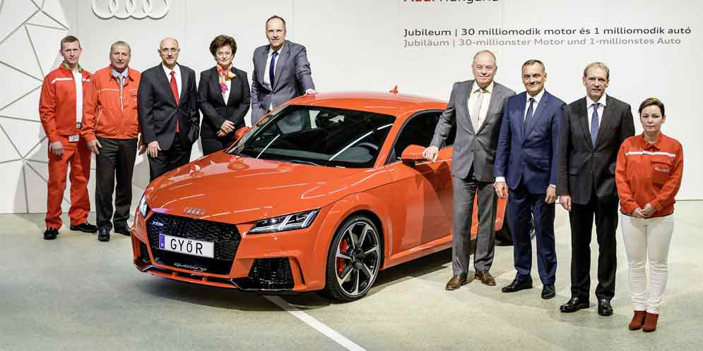 Завод Audi в Венгрии выпустил 1 млн авто и 30 млн двигателей