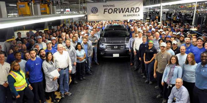 Завод Volkswagen в Теннесси начал производство VW Atlas