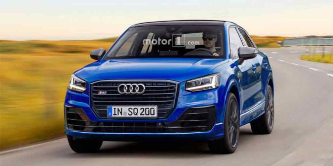 Дизайн Audi SQ2 и RS Q2 неофициально от motor1.com