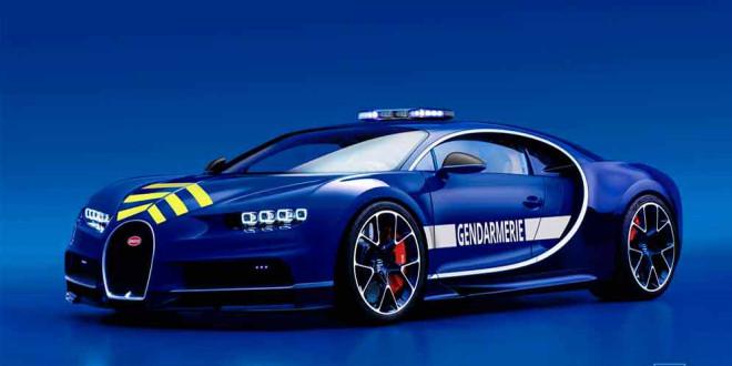 Жандармерия Франции приняла полицейский Bugatti Chiron